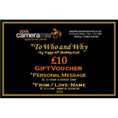 £10 PERSONALISED GIFT VOUCHER