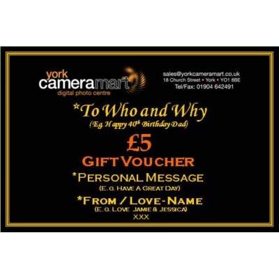 £5 PERSONALISED GIFT VOUCHER