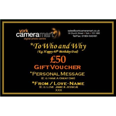 £50 PERSONALISED GIFT VOUCHER