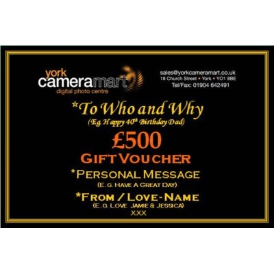£500 PERSONALISED GIFT VOUCHER